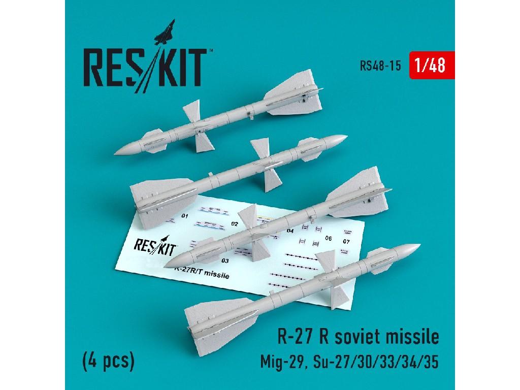 1/48 R-27 R soviet missile (4 pcs) (Mig-29, Su-27/30/33/34/35)
