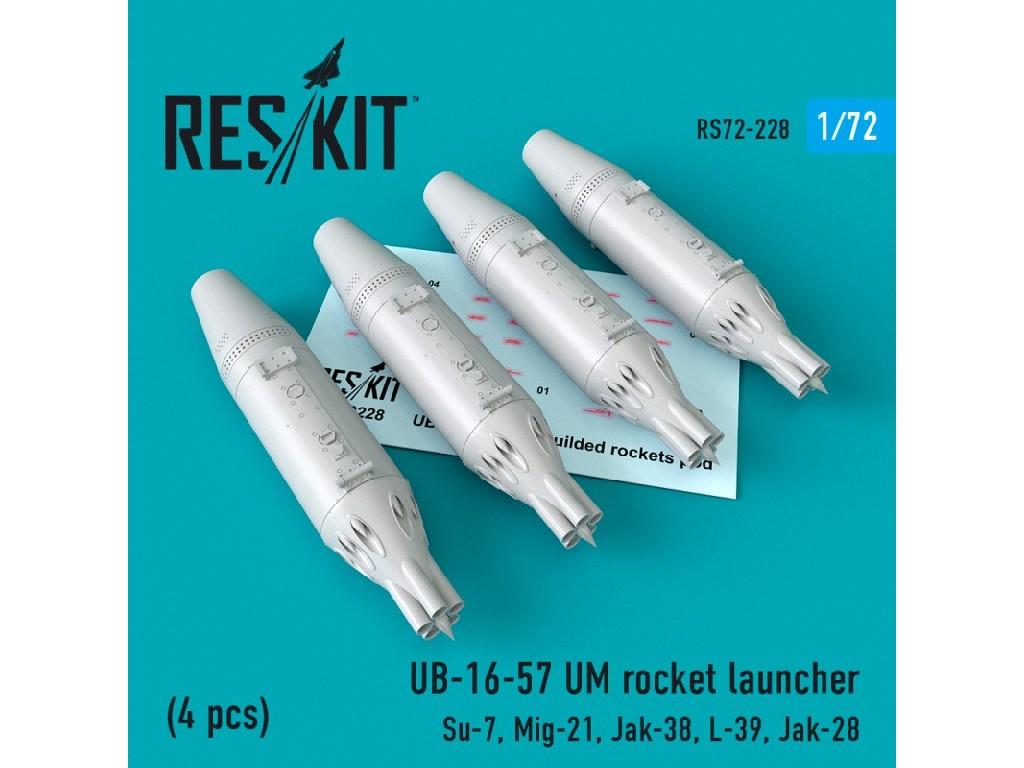 1/72 UB-16-57 UM rocket launcher (4 pcs) Su-7, Mig-21, Jak-38, L-39, Jak-28