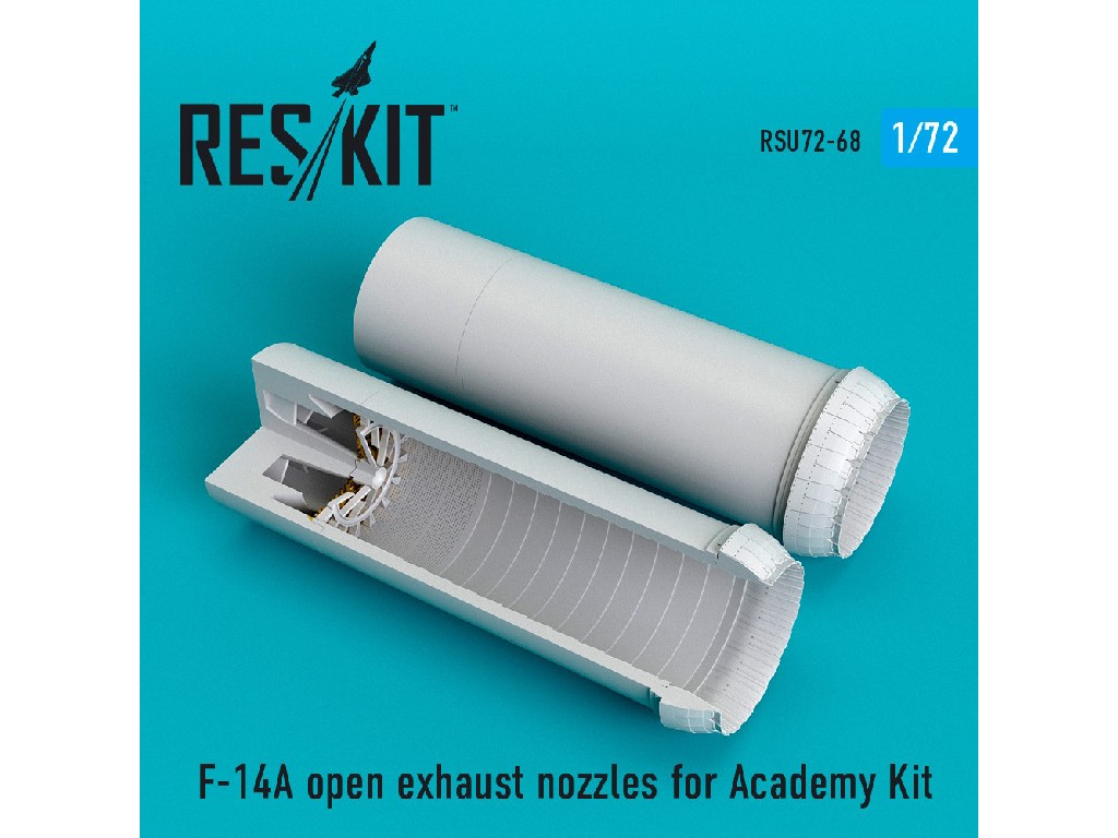 1/72 F-14A open exhaust nozzles for Academy Kit