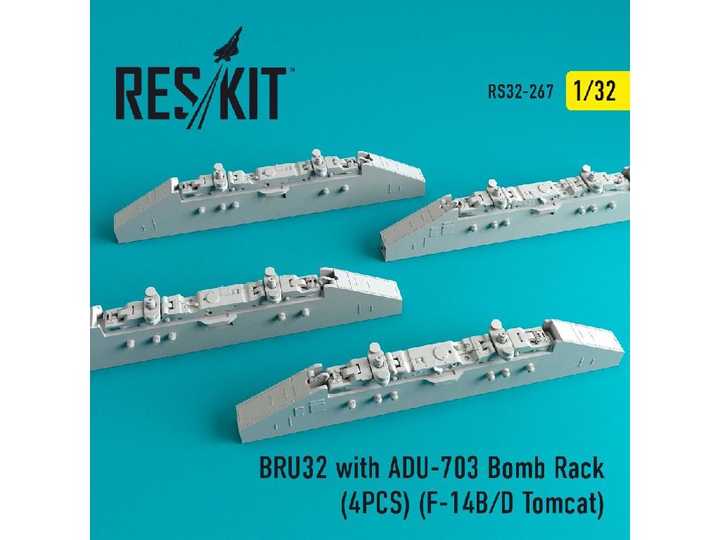 1/32 BRU32 with ADU-703 Bomb Rack (4PCS) (F-14B/D Tomcat)
