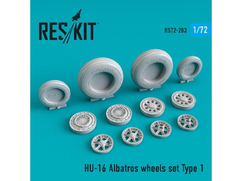 1/72 HU-16 Albatros wheels set Type 1