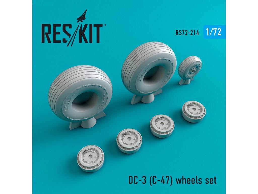 1/72 DC- 3 (C-47) wheels set