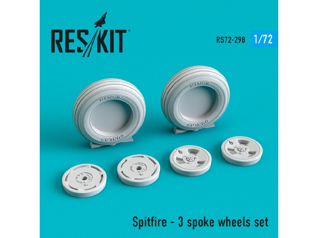 1/72 Spitfire - 3 spoke wheels set