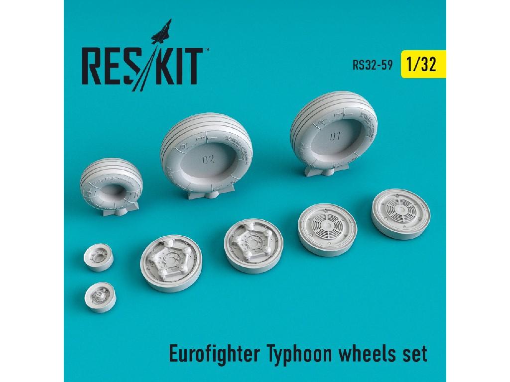1/32 Eurofighter Typhoon wheels set