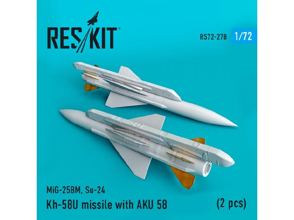 1/72 Kh-58U missile with AKU 58 (2 pcs) (MiG-25BM, Su-24)-