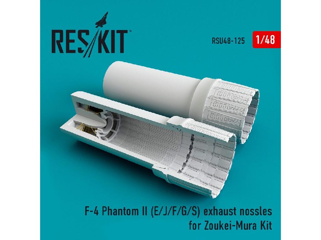 1/48 F-4 Phantom II (E/J/F/G/S) exhaust nossles for Zoukei-Mura Kit
