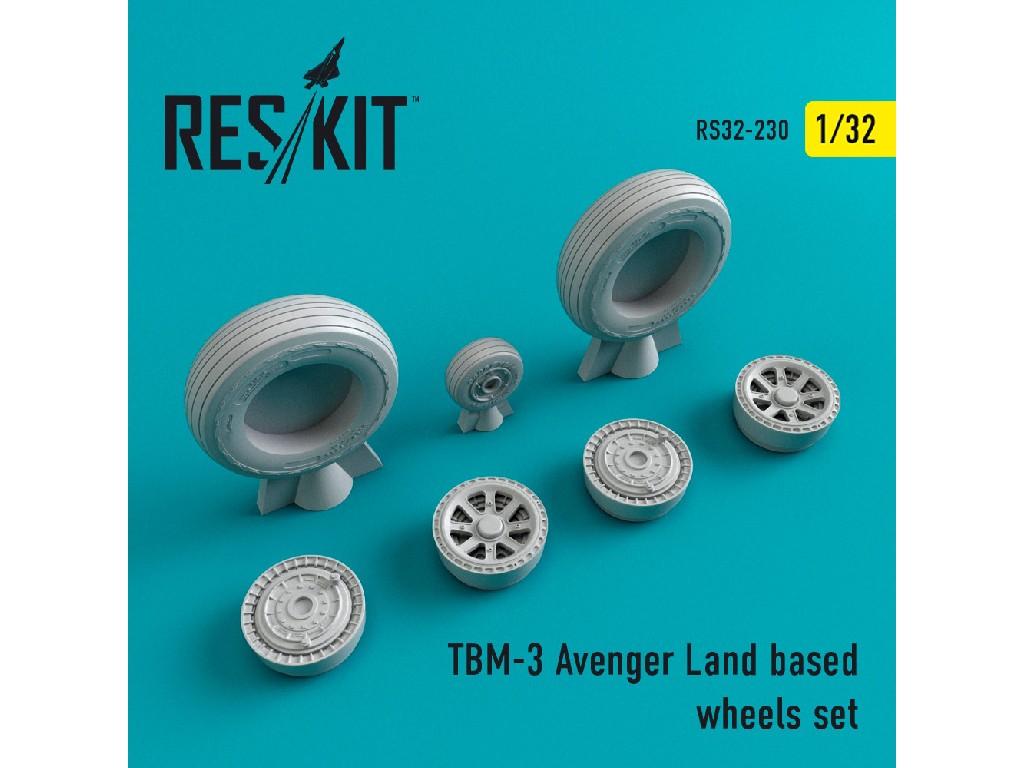 1/32 TBM-3 Avenger Land based wheels set