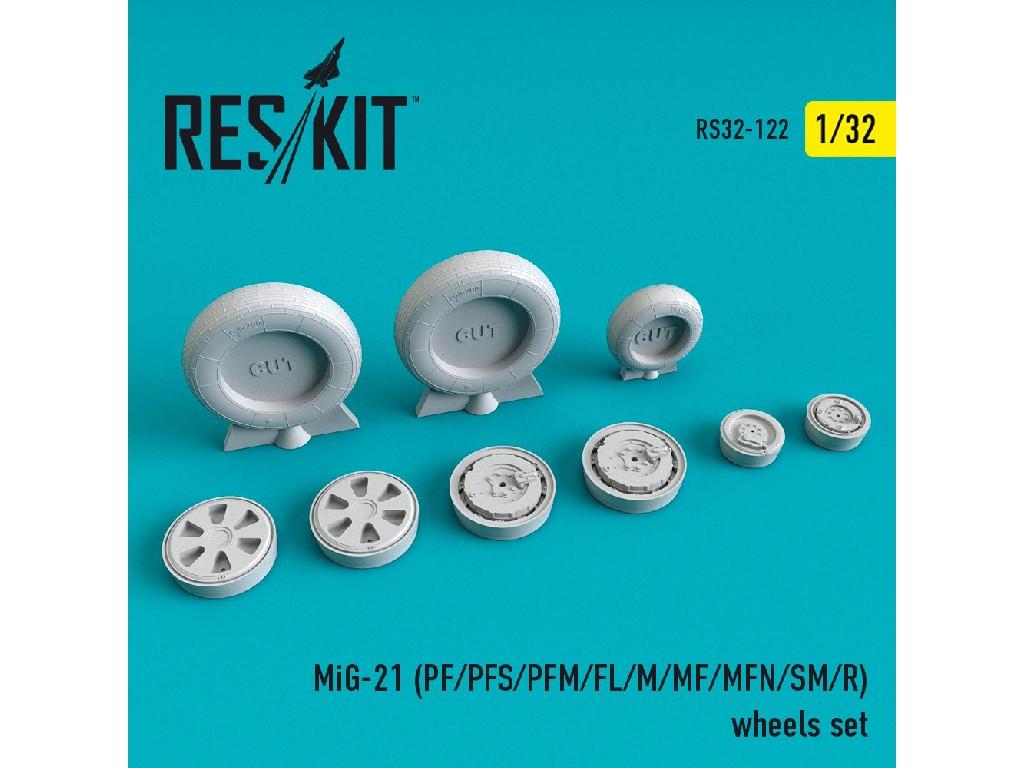 1/32 MiG-21 (PF/PFS/PFM/FL/M/MF/MFN/SM/R) wheels set