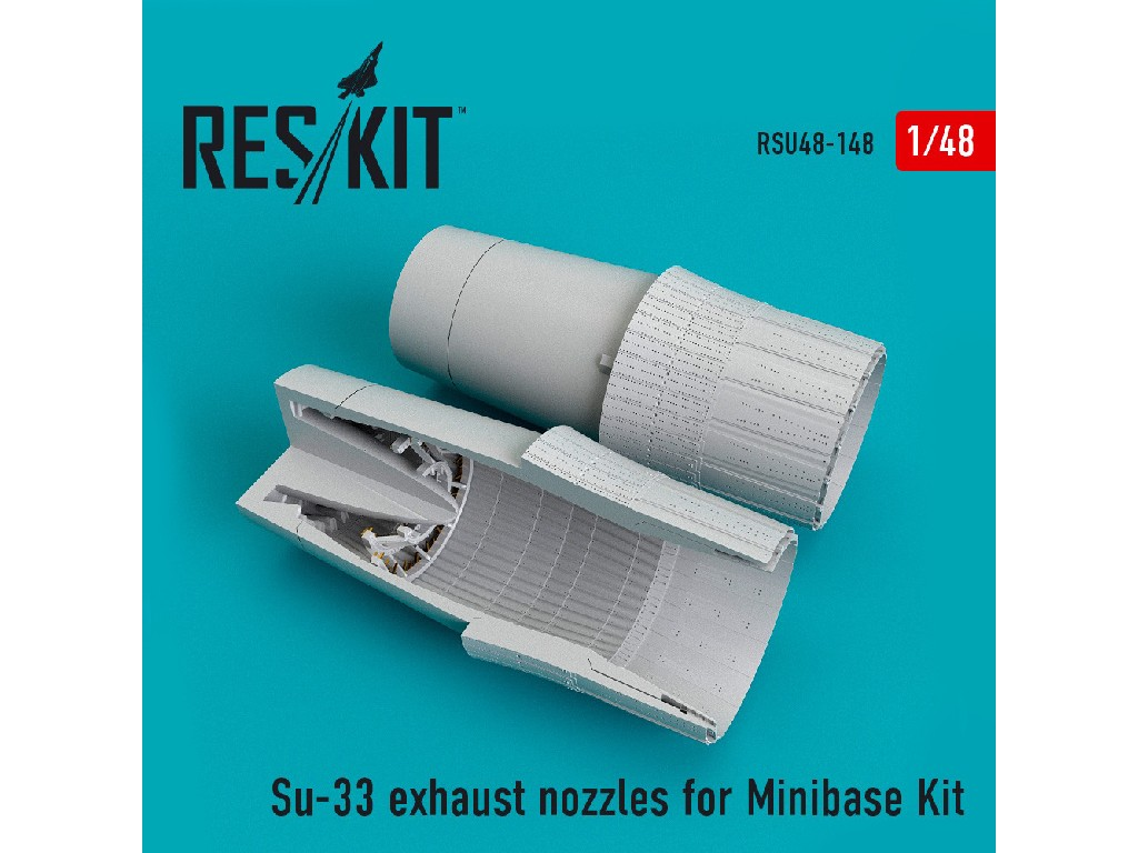 1/48 Su-33 exhaust nozzles for Minibase Kit