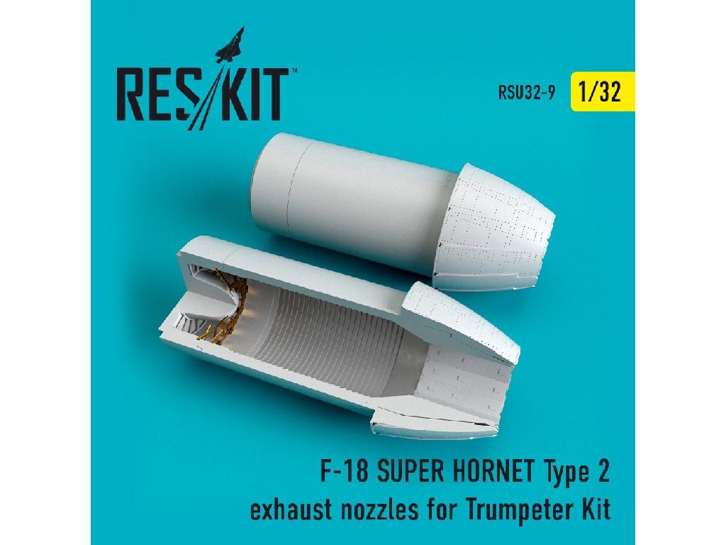 1/32 F-18 (E/G) SUPER HORNET Type 2 exhaust nozzles for Trumpeter Kit
