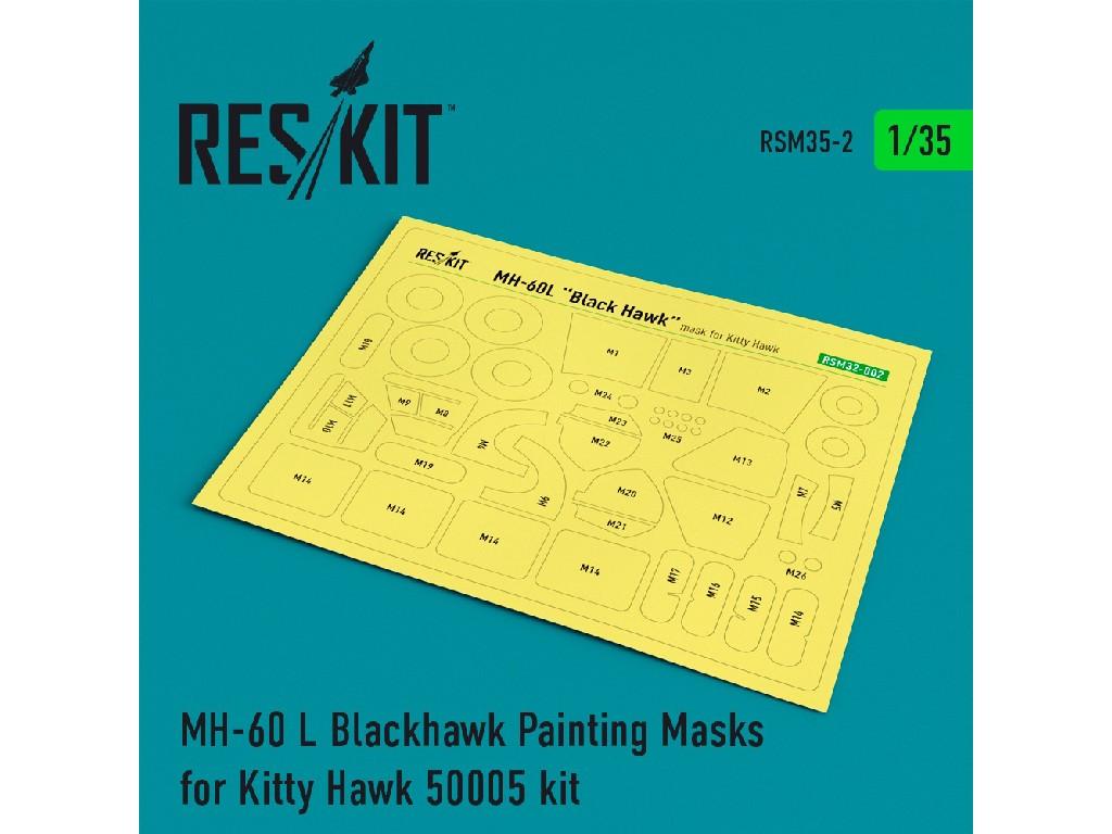 1/35 MH-60 L Blackhawk Painting Masks for Kitty Hawk 50005 kit