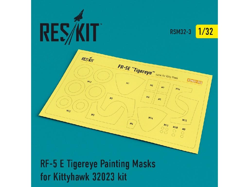 1/32 RF-5 E Tigereye Painting Masks for Kittyhawk 32023 kit