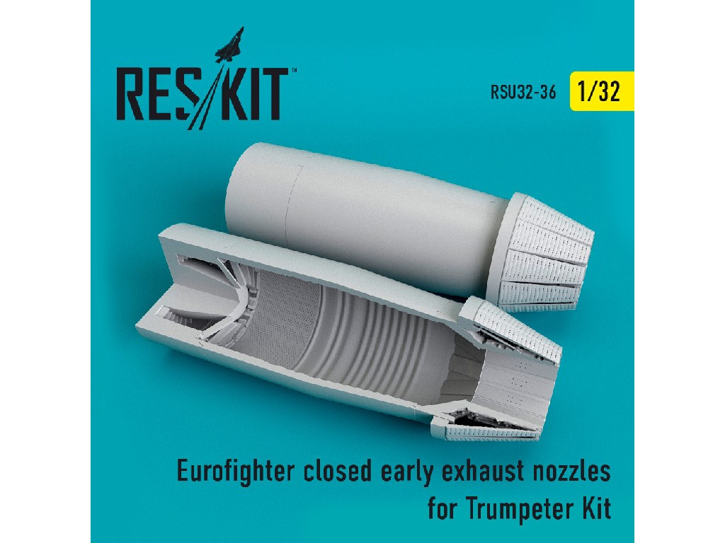 1/32 Eurofighter closed (early type) exhaust nozzles  for  Trumpeter Kit