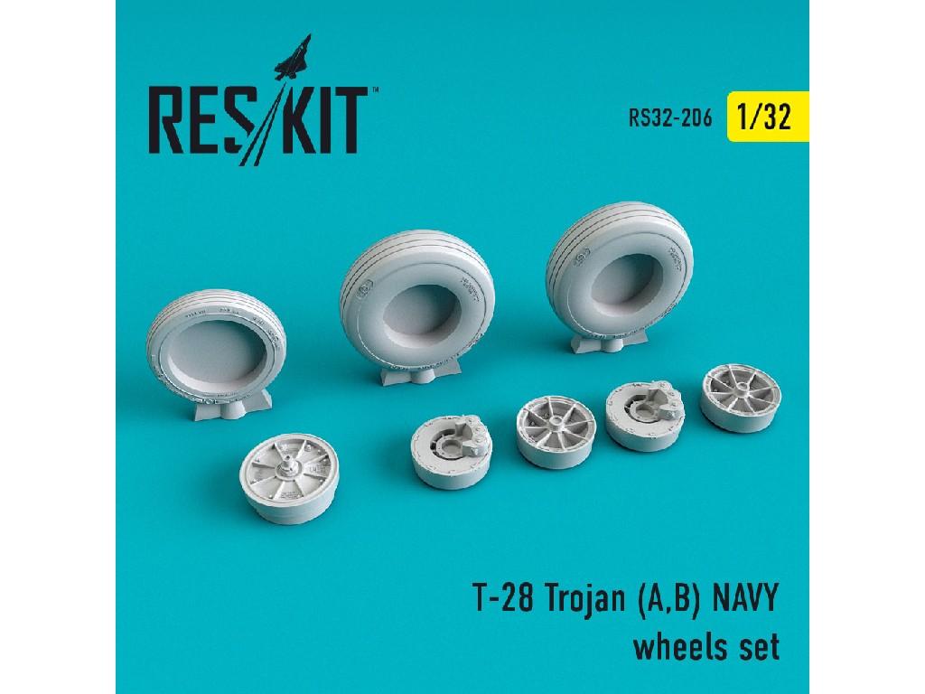 1/32 T-28 Trojan (A,B) NAVY wheels set