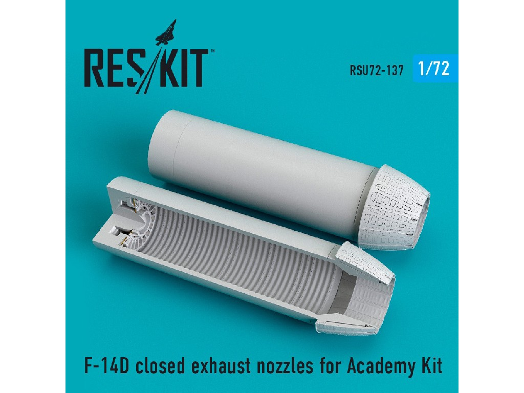 1/72 F-14D closed exhaust nozzles for Academy Kit