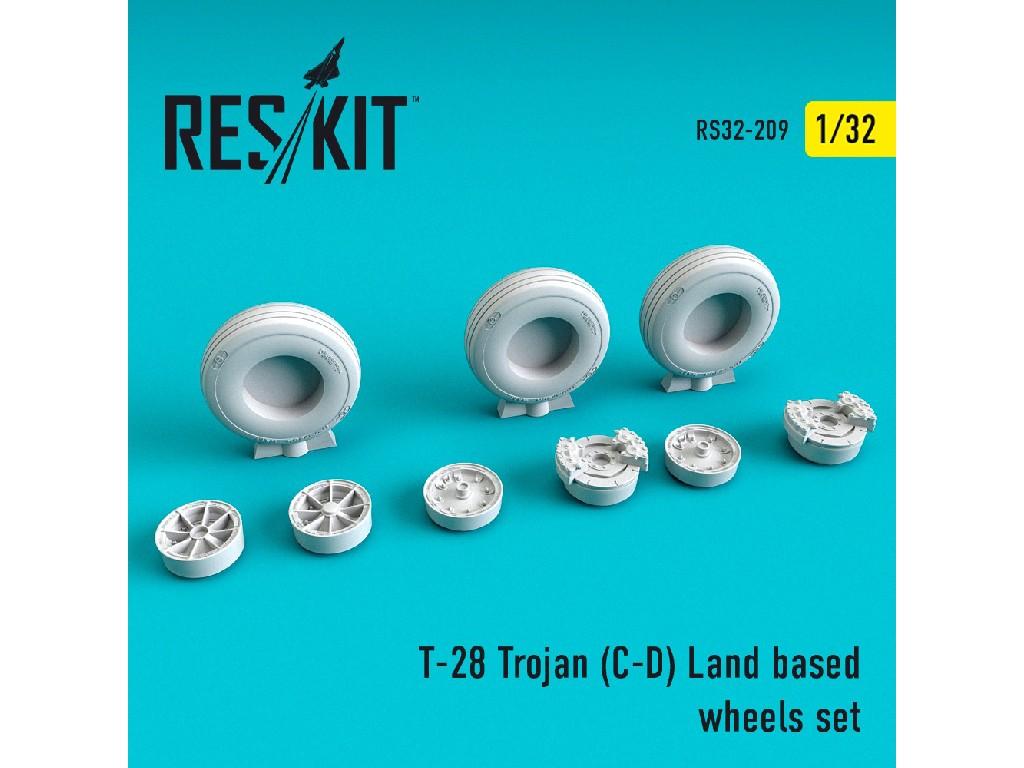 1/32 T-28 Trojan (C-D) Land based wheels set