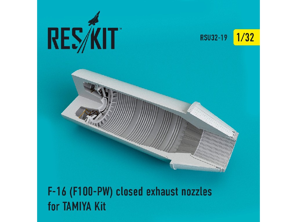 1/32 F-16 (F100-PW) closed exhaust nozzles for  TAMIYA Kit
