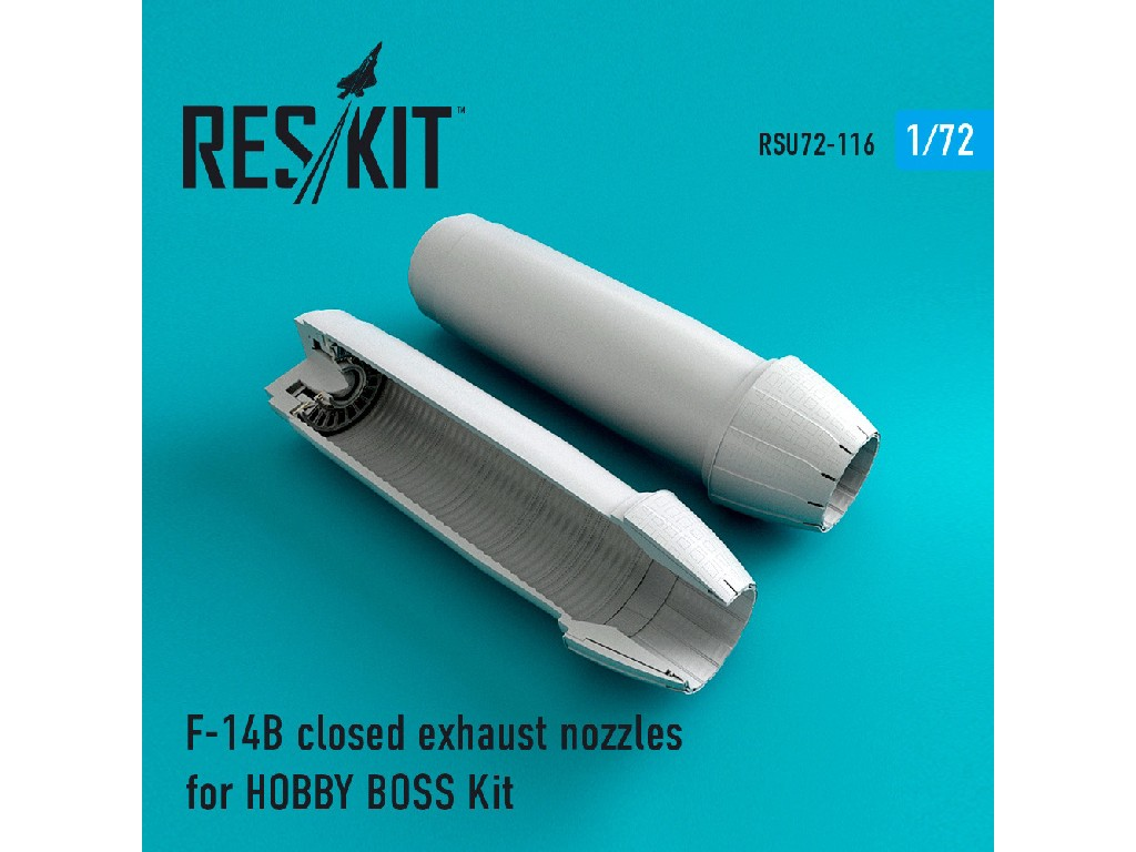 1/72 F-14 (BD) closed exhaust nozzles for HOBBY BOSS Kit