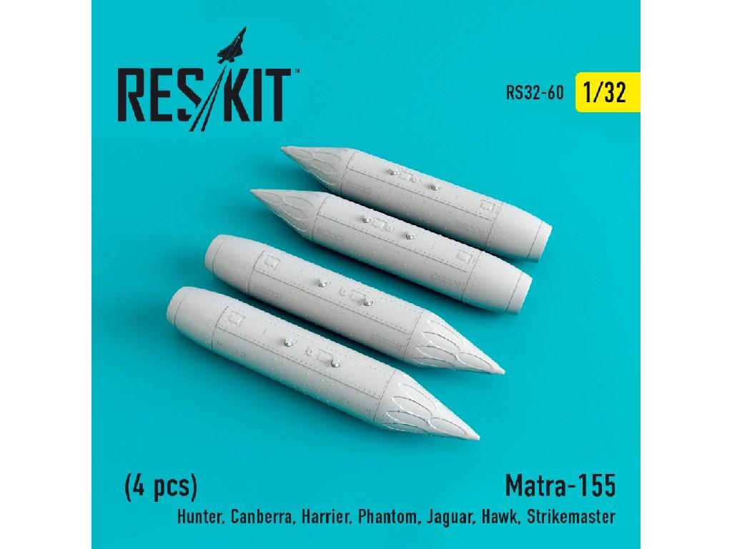 1/32 Matra-155 (4 pcs) (Hunter, Canberra, Harrier, Phantom, Jaguar, Hawk, Strikemaster,)