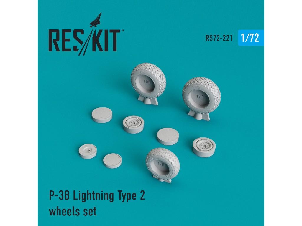 1/72 P-38 Lightning Type 2 wheels set