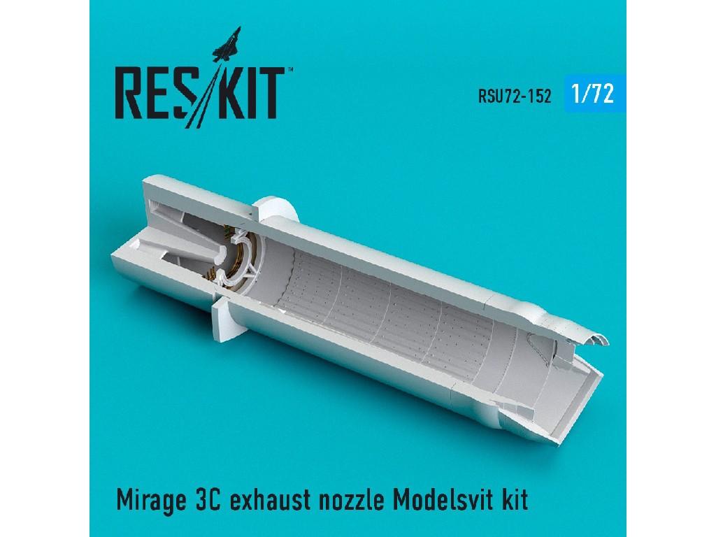 1/72 Mirage 3C exhaust nozzle Modelsvit kit