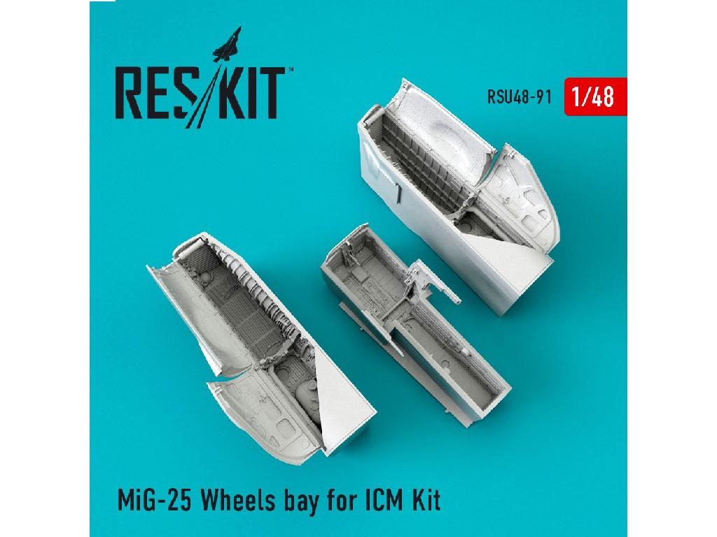 1/48 MiG-25 Wheels bay for ICM Kit