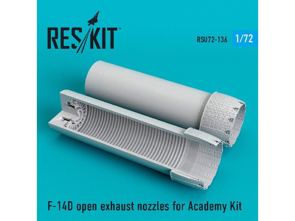 1/72 F-14D open exhaust nozzles for Academy Kit