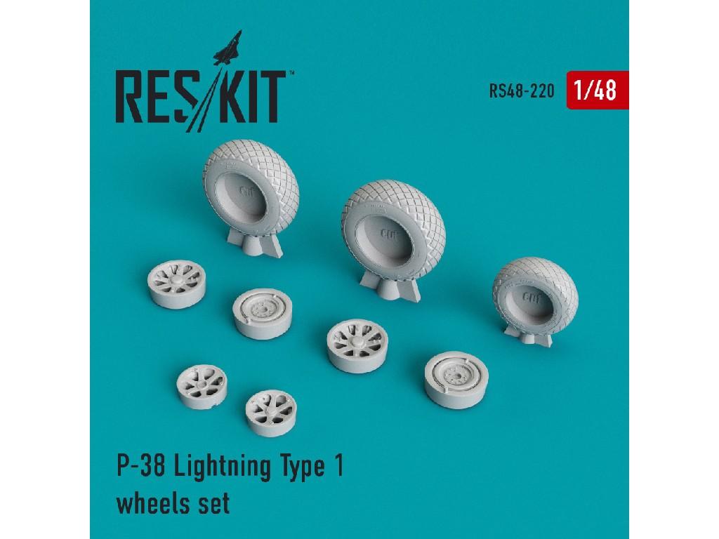 1/48 P-38 Lightning Type 1 wheels set