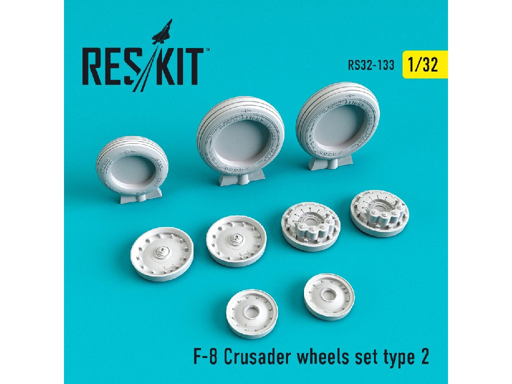 1/32 F-8 Crusader  wheels set type 2