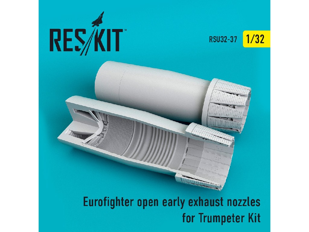 1/32 Eurofighter open (early type) exhaust nozzles for Trumpeter Kit