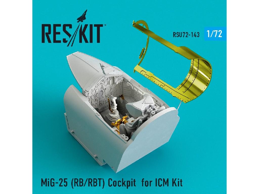 1/72 MiG-25 (RB/RBT) Cockpit for ICM Kit