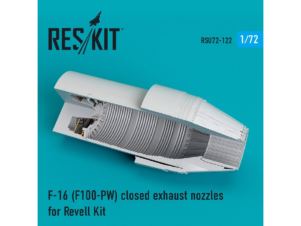 1/72 F-16 (F100-PW) closed exhaust nozzles for Revell Kit