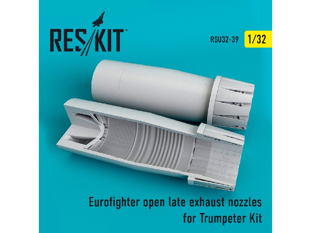 1/32 Eurofighter open (late type) exhaust nozzles for Trumpeter Kit