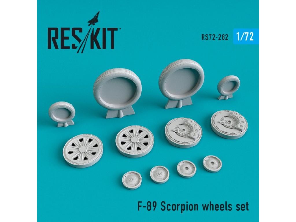 1/72 F-89 Scorpion wheels set