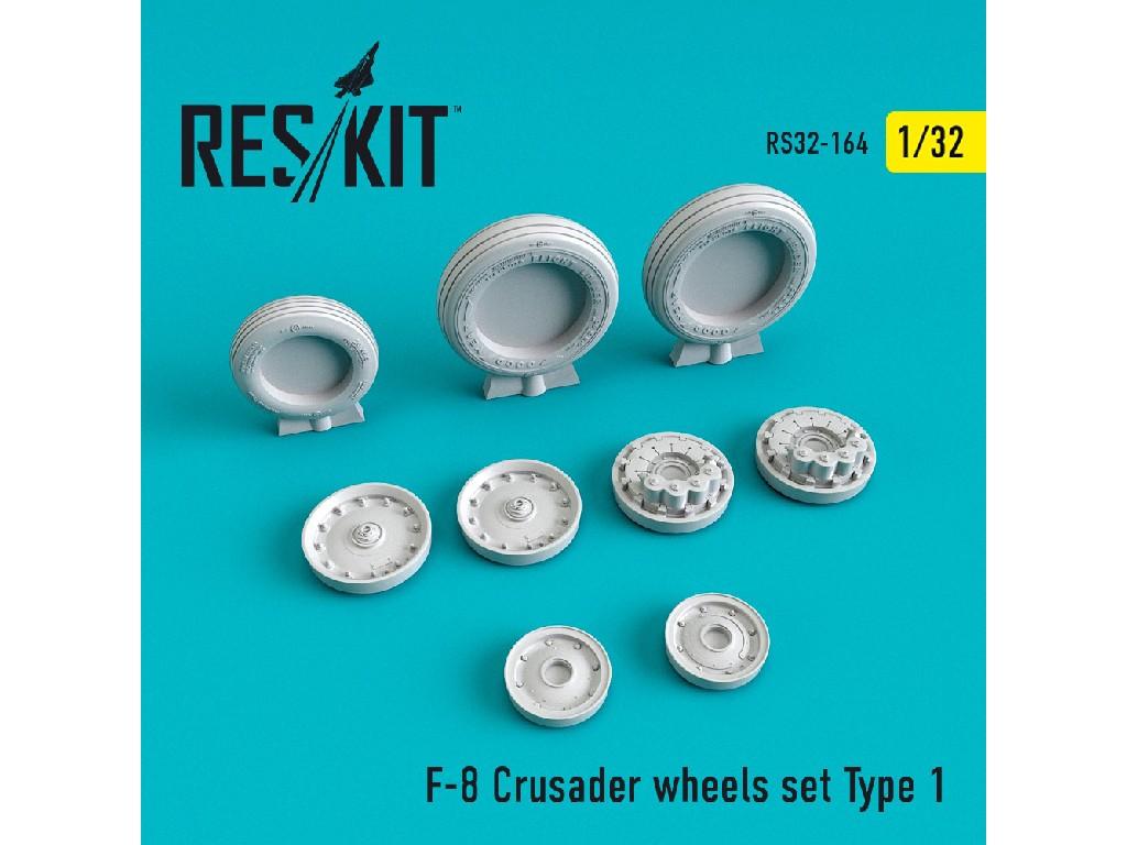 1/32 F-8 Crusader wheels set Type 1