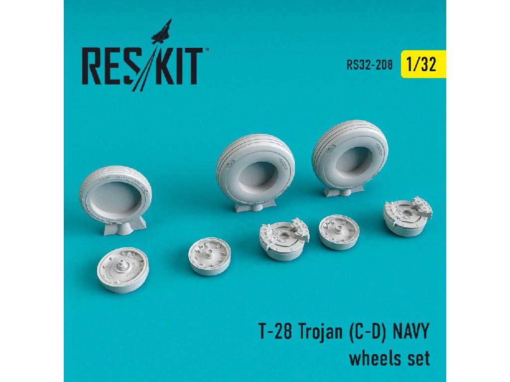 1/32 T-28 Trojan (C-D) NAVY wheels set