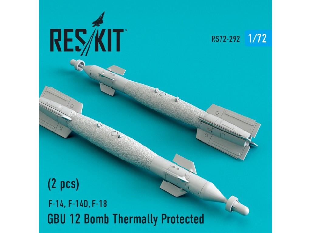 1/72 GBU 12 Bomb Thermally Protected (2 pcs) (F-14, F-14D,F-18)