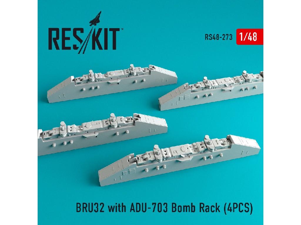 1/48 BRU32 with ADU-703 Bomb Rack (4PCS) F-14D/B