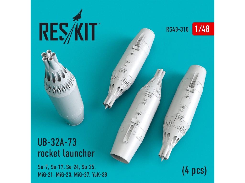 1/48 UB-32A-73 rocket launcher (4 pcs) (Su-7,Su-17,Su-24,Su-25,MiG-21,MiG-23,MiG-27,YaK-38)