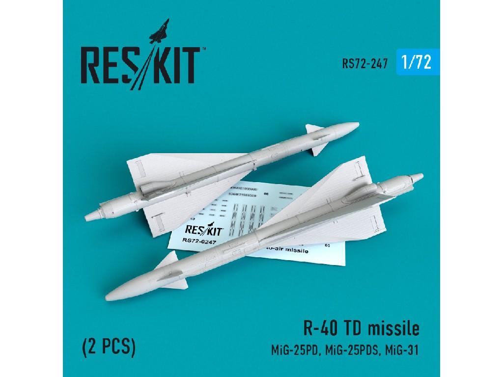 1/72 R-40 TD missile (2 PCS) (MiG-25PD,Mig-25PDS, MiG-31)