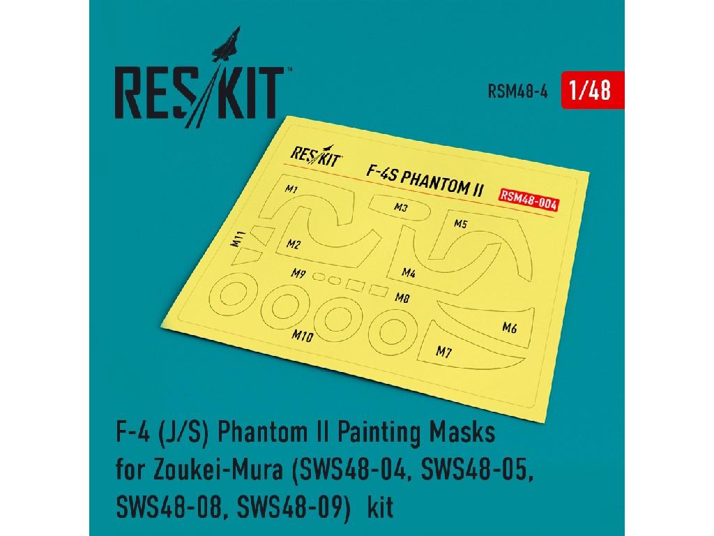 1/48 F-4 (J/S) Phantom II Painting Masks for Zoukei-Mura (SWS48-04, SWS48-05, SWS48-08, SWS48-09)  k