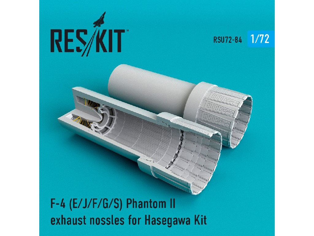1/72 F-4 Phantom II (E/J/F/G/S) exhaust nossles for  Hasegawa Kit