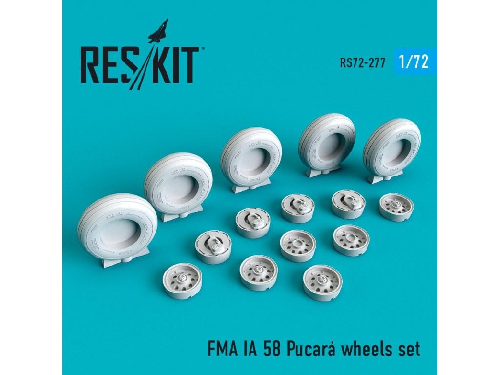 1/72 FMA IA 58 Pucará wheels set