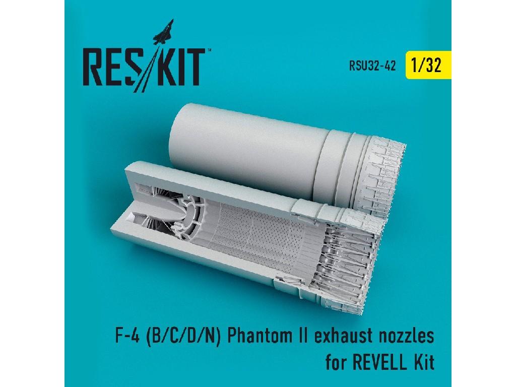 1/32 F-4 (B/C/D/N) Phantom II exhaust nozzles for REVELL Kit