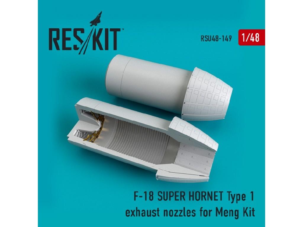 1/48 F-18 SUPER HORNET Type 1  exhaust nozzles for MENG Kit