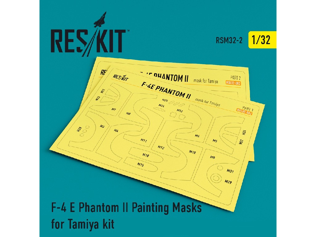 1/32 F-4 E Phantom II Painting Masks for Tamiya  kit