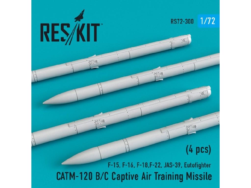 1/72 CATM-120 B/C Captive Air Training Missile (4 pcs) (F-15, F-16, F-18,F-22, JAS-39, Eutofighter )