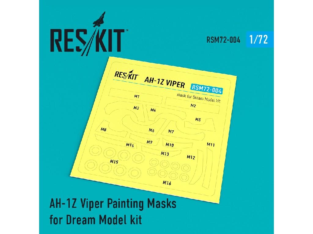 1/72 AH-1Z Viper Painting Masks for Dream Model kit