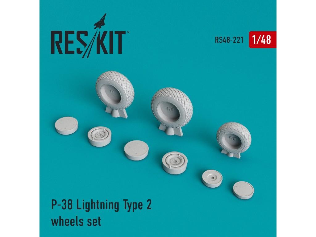 1/48 P-38 Lightning Type 2 wheels set