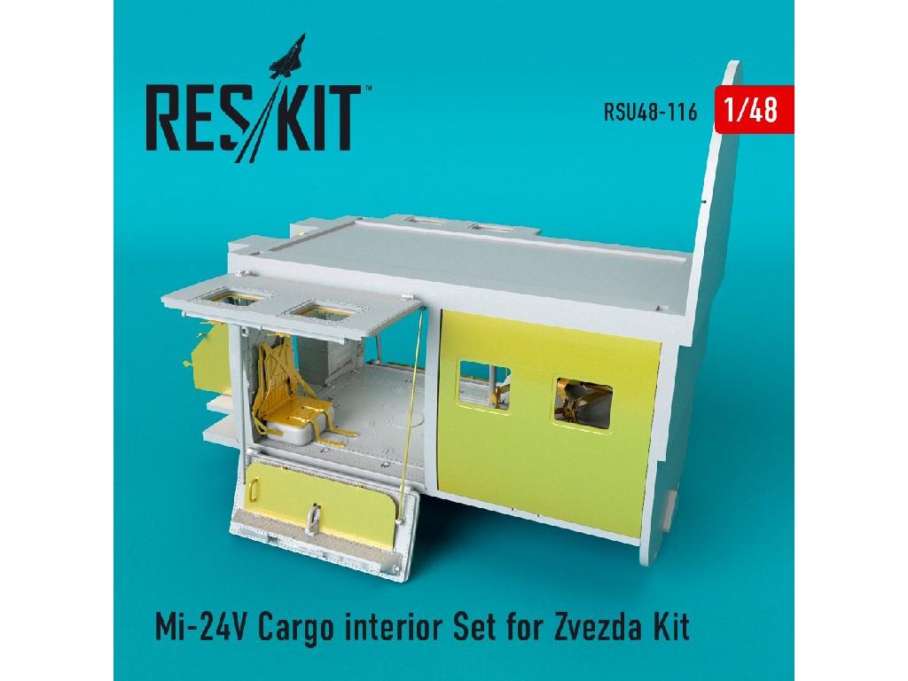 1/48 Mi-24 (V) Cargo interior Set for Zvezda Kit